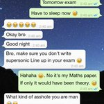 @Vh1Supersonic Haha.My conversation. Seriously! My friends know that I might write #Superlineup in exam #GoSupersonic http://t.co/V6IWkhgZeT