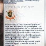 """""""Atoma, belge avant tout"""". Fournisseur de la Cour... On est loin de limage de cahier fossoyeur de la Belgique #begov http://t.co/BB37esrepy"""