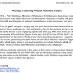 Im not content with other peoples screen grabs. I must immortalize this Peter Goldring press release myself. http://t.co/pjUOy4zcyO