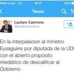 Vicepresidente d la Cámara no da garantías en @interpelacion tuiteando contra interpeladora y con falta d ortografía http://t.co/KzCgQF0DU8