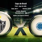 Daqui a pouco começa #Galo x Cruzeiro no Mineirão, jogo de volta, pela final da Copa do Brasil. Vamos #Galo! http://t.co/kVz3cwxLVC