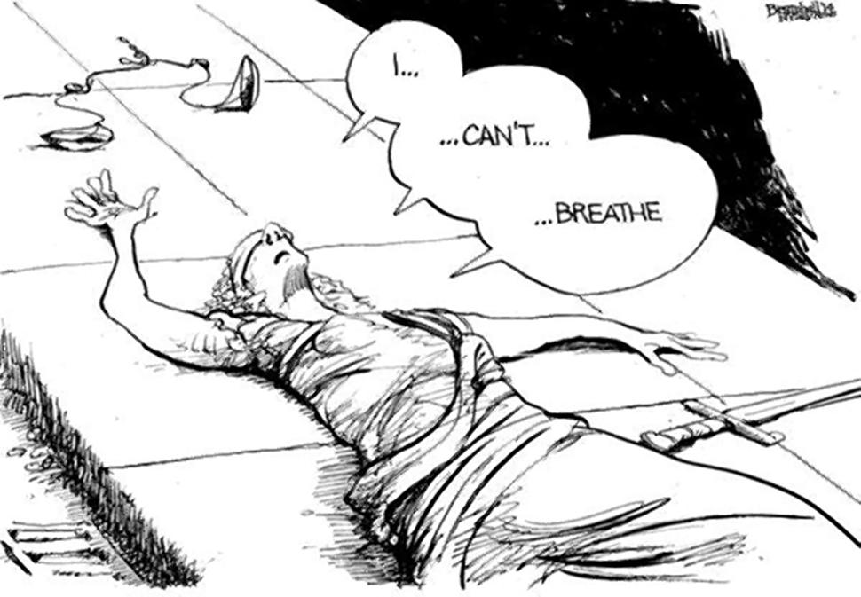 NY Daily News editorial cartoon Dec 3 #Icantbreathe http://t.co/1X545lxUTe