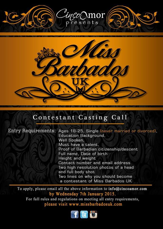 So who's entering @MissBarbadosUK?? Don't be shy girls! Lol