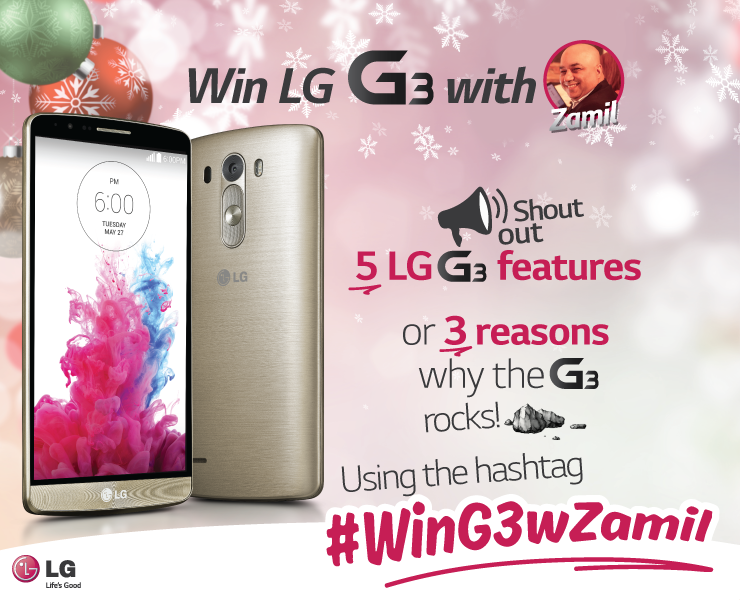 Do you want to win the best android smartphone in 2014 LG G3 #WinG3wZamil http://t.co/KTEiymHLHF