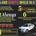 Things you should remember in a taxi. Always stay alert and watchful of your surroundings! http://t.co/6zyQ5o51lY