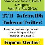 Aqui @lobaoeletrico Amanhã, dia 27, 5ª feira, TUITAÇO, às 19h . Pode divulgar. Bjks http://t.co/IPtSczEcZE