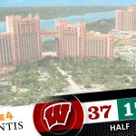 At the half of the #Battle4Atlantis, @BadgerMBB leads UAB by 20pts. Kaminsky w/ 12 & Gasser w/ 10pts. #badgers http://t.co/p4fRQf1a8i