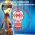 ¡¡¡GANÓ HURACÁN!!!  C.A. HURACÁN 5 R. Central 4  ¡EL GLOBO CAMPEÓN DE LA COPA ARGENTINA! #GanóHuracán #CopaArgentina http://t.co/eP4tM0YFUl