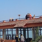 All by themselves. PM @narendramodi & Prez @ashrafghani confer on the rooftop. http://t.co/5hfB2jrfsV