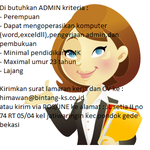 #loker admin bantu promote min di bekasi @BekasiUrbanCity http://t.co/i2anz3hXRc
