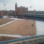 @MudHens grounds crew leveled a 214x100 sandbox to house the outdoor rink. @ToledoWalleye #WinterfestIsComing http://t.co/X67K4cvh69