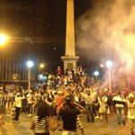Atleticanos já tomam a Praça Sete em BH pra comemorar o título da Copa do Brasil 2014 http://t.co/3FdRKfbxz9