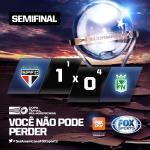 SÃO PAULO ELIMINADO! Tricolor perde para o Atlético Nacional nos pênaltis e se despede da #SulAmericanaFOXSports. http://t.co/f4aTI7nKgO