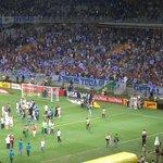 Mesmo derrotado, elenco do #Cruzeiro faz festa com a torcida pelo tetra do Brasileiro; VEJA: http://t.co/sIw2JmExaK http://t.co/bW2jLZ2rxR