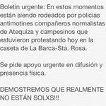 #ALERTA Antimotines rodean compañeros de la Normal Rural de #Atequiza en Jalisco. #YaMeCanse de la represión http://t.co/Yk5f7L96Jv