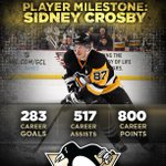Congratulations to Sidney Crosby on his 800th career NHL point. http://t.co/R12dR5KWnZ