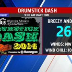 OFF AND RUNNING (or walking) #DrumstickDash will be cold for 2nd straight year. Wind chill 10° to 15° #Inwx @FOX59 http://t.co/I3cZZAXfzM