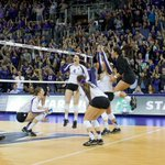 In front of a record crowd on Senior Night, fifth-ranked @UWVolleyball takes down No. 1 Stanford. #PointHuskies http://t.co/XSy27XWMxB