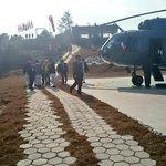 Good bye Dhulikhel. PM @narendramodi leaving SAARC retreat. http://t.co/FRsfOBPiwz