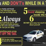 DOs & DONTs while in a taxi via Philippine National Police facebook page: http://t.co/9UgPLuWuE6