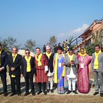 The aides gather together. SAARC Foreign Secretaries at Dhulikel. http://t.co/Z6GnselZuc