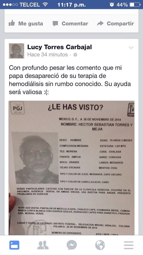 Familia, ayuda ppr favor. Es familiar mio. http://t.co/uesX8FYCKa