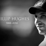 RIP Phil Hughes.........A big loss for Australian Cricket......Sean Abbot it was not your fault but an accident..... http://t.co/FUuhhEogbX