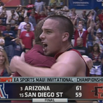 Bear Down! No. 3 Arizona holds off No. 15 SDSU, 61-59. Wildcats win Maui Invitational for 2nd time in school history. http://t.co/iuZnZh7Imt