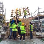 Have you seen the #Christmas tree at #brewerywharf made by @leedsbeckett students? #Leeds #Art #Christmas http://t.co/LPiR8tJFSB