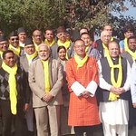 Retreating together. SAARC leaders and aides at Retreat in Dhulikhel. http://t.co/RvUARJyD9D