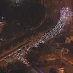 Cops chase Hundreds in cars at #Oakland sideshow protest http://t.co/sf8MXuI0hC P/V @NajaPost: | live http://t.co/gG8GnruoAl | #Ferguson