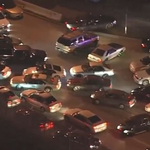 #BREAKING: #Ferguson protest in #Oakland, Protestors blocking highway with cars. LIVE http://t.co/FG4B5iie8U http://t.co/48Daj2UQyq