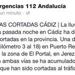#FMACadiz Cortadas al tráfico por lluvia la A-408 en Puerto Real y la CA-3109 en zona de El Portal en #Jerez #Cádiz http://t.co/VGG35StYuY