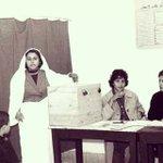 سيدة تونسية تدلي بصوتها في انتخابات عام 1959.  الصورة من السيد جلال مني مشكوراً Via @jalelmokni  #tunisienne http://t.co/ZTDuthYCeP