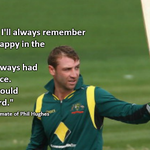 Dominic Corks tribute to his former team mate, the late Phil Hughes. http://t.co/tMAw7Xka50