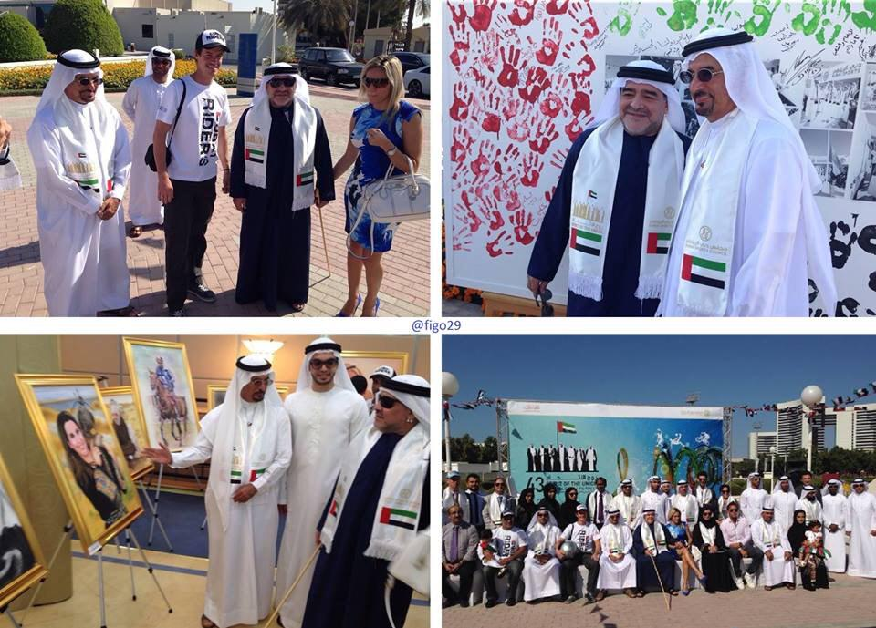 #Maradona participating in the #UAENationalDay celebrations at the @DubaiSC in #Dubai. #UAE43 http://t.co/t1aiYkMjuL