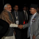 PM @narendramodi arrives for the banquet hosted by the President of Nepal. http://t.co/XlL5yKc9yB