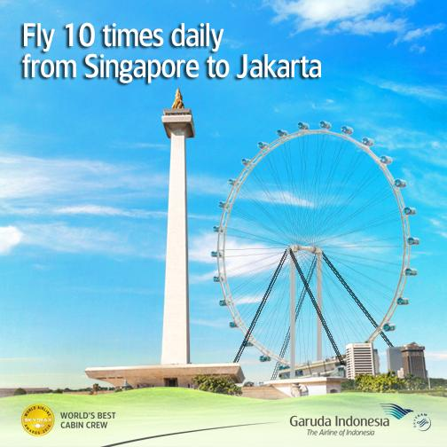 Enjoy more routes from Singapore to Jakarta. We're flying 10 times a day! Book now!