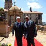 President Jacob Zuma & Palestinian President #MahmoudAbbas at the Union Buildings in Pretoria @radioislam @itv_sa http://t.co/ZPnpXkXMby