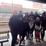 Waiting on the train to take us into the City! #GoKSUOwls #HappyThanksgiving #OwlstakeNYC http://t.co/x7fTSQL5rN