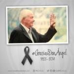 #GraciasDonAngel La tercera bandeja recibe de pie al Maestro. Gracias por todo http://t.co/9X9wMKGTUR