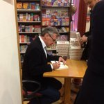 Michael Palin @StanfordsTravel signing copies of Travelling To Work @orionbooks @thebookseller #london http://t.co/6SuER6REhZ