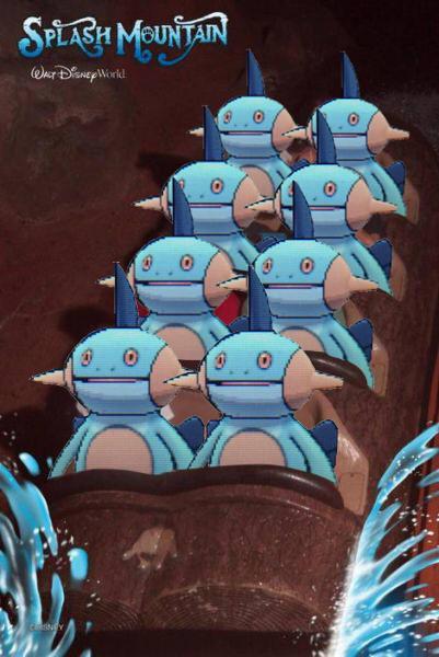 スプラッシュマウンテンに乗るヌマクロー http://t.co/MWdOwPk4fy