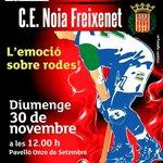 Aquest Diumenge, juguem contra el @cenoia, un partit molt important!! Afició no hi podeu faltar!!! #oklliga http://t.co/zq6ljvzWk3