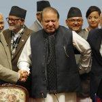 Nawaz Sharif in Gucci scarf, awkward posture....India or/and Afghanistan...okay both. http://t.co/Vqxl0Zarta