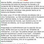 La verdad cuantos de nuestros millonarios estarían dispuesto hacer lo que hizo Warren buffet http://t.co/7aRnAdZfdb