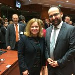 Minister @MehmetKaplan meeting Commissioner @GOettingerEU and Minister @KristaKiuru at TTE Council today. http://t.co/ouf0pTmHLT
