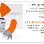 Os espero el próximo día 13 en Madrid en el acto de @Ciudadano_Mov . No os lo perdáis.Ha llegado nuestro tiempo. http://t.co/PDnxRdt9j5
