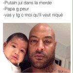 Booba et sa fille après avoir vu la vidéo de Kaaris.???? http://t.co/LHOFLnC3Da