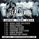 20時なので告知します パリのTHE GREAT DIVIDE Japan Tourの仙台場所に出演が決まりました! http://t.co/pqsZ2IQJ7z
